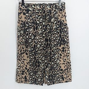 Tracy Reese Leopard High Wasited Straight Skirt